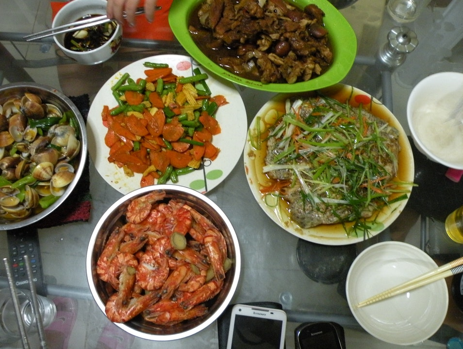 Sea food taste with local Chinese descendants' family  Puerto Princesa  Philippines