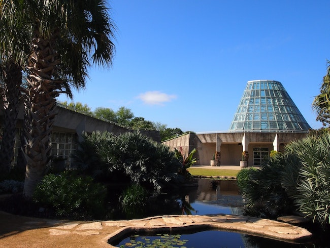 A Futuristic Hideaway at the San Antonio Botanical Garden