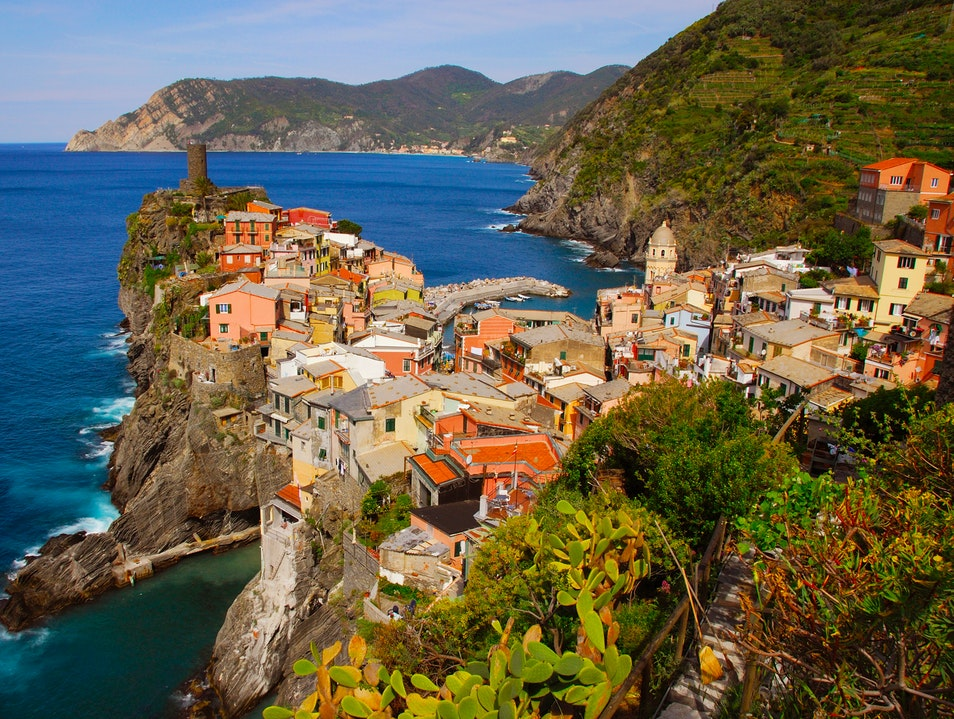 Sitting on top of the world...in the Cinque Terre Vernazza  Italy