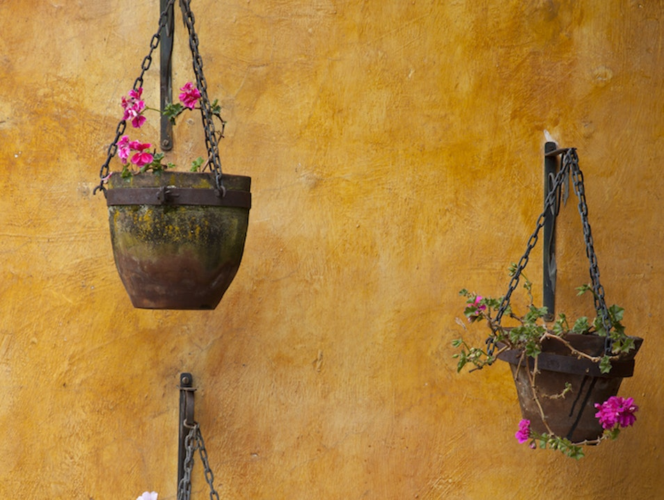 Unlikely Art: Flower Pots at Hacienda San Agustin De Callo Latacunga  Ecuador