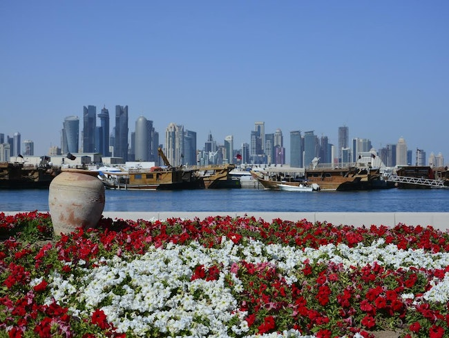 Taking in Doha's skyline