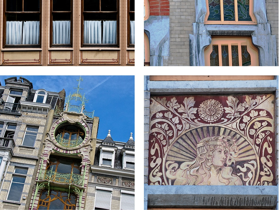 Free Walking Tour Map to Brussels Best Art Nouveau Brussels  Belgium