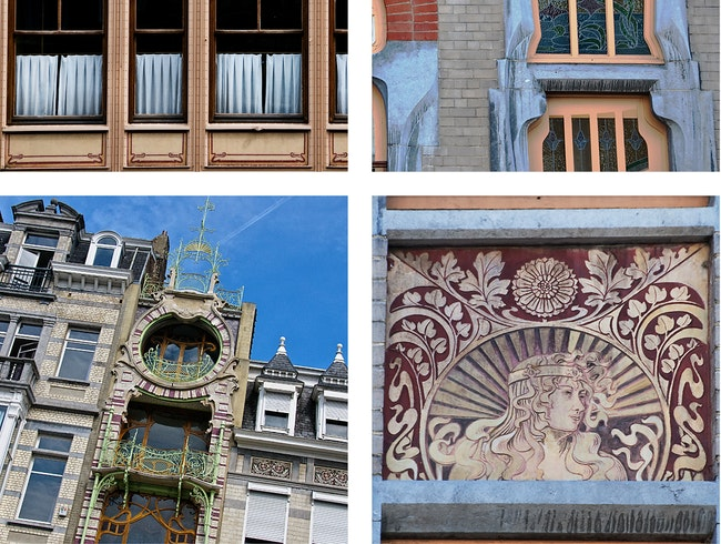 Free Walking Tour Map to Brussels Best Art Nouveau