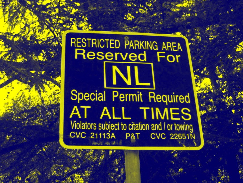 Check out the Parking Signs Berkeley California United States