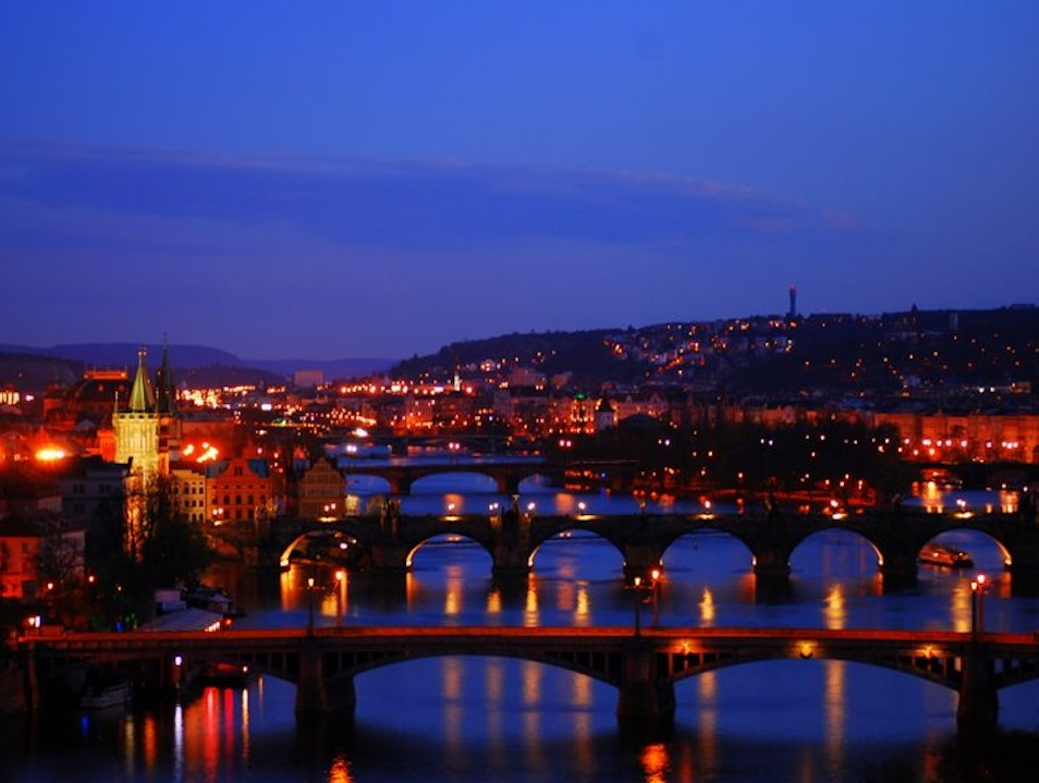 Prague Panorama from Letna Park Nižbor  Czechia