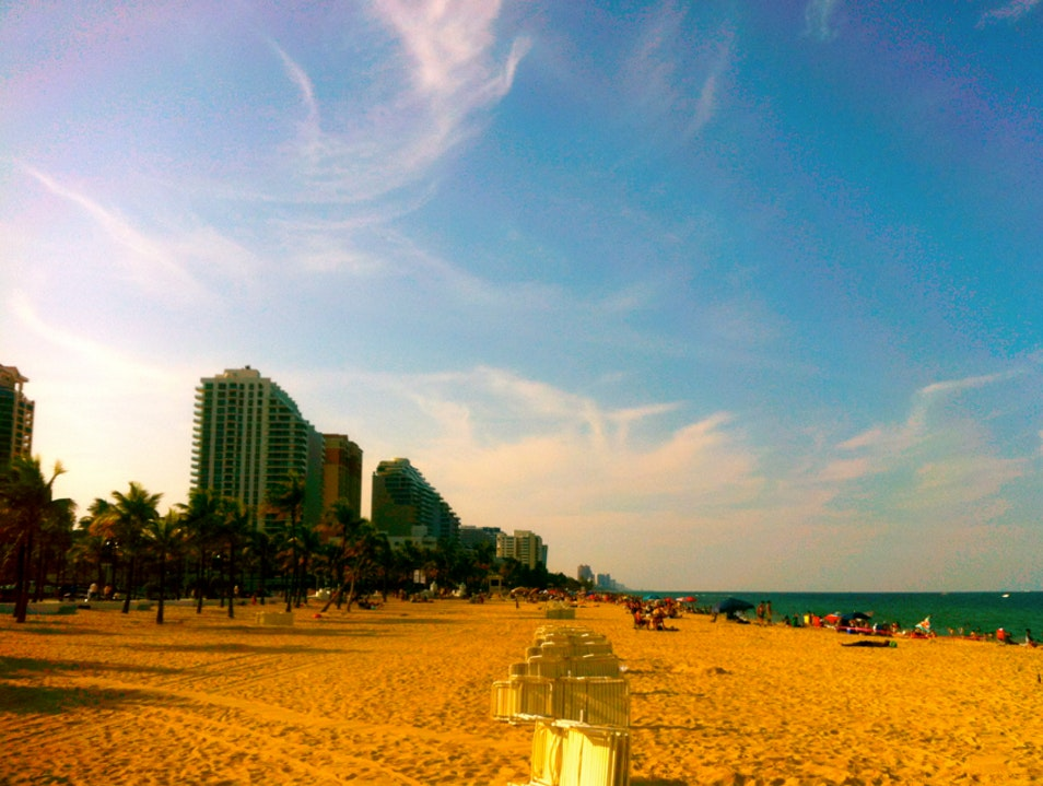 Relaxing on the beach  Fort Lauderdale Florida United States