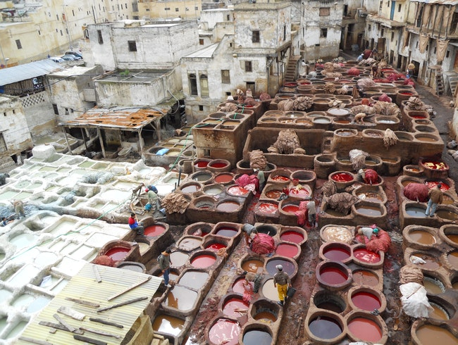 The Dye pits of Fez (Fes)