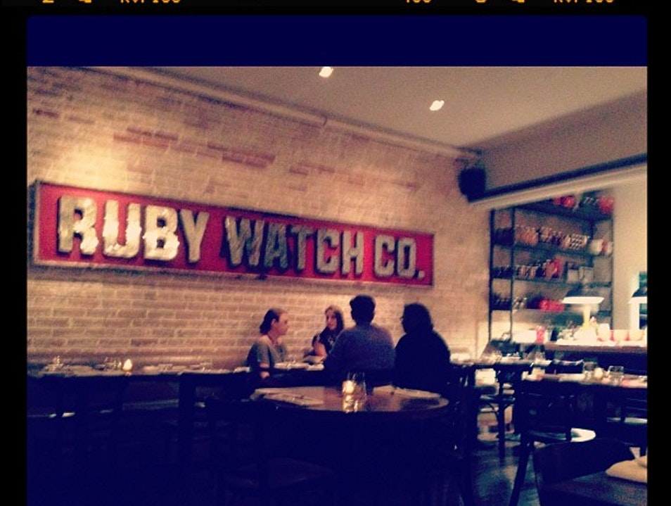 The Restaurant for Dinner in Leslieville: Ruby Watchco  Toronto  Canada