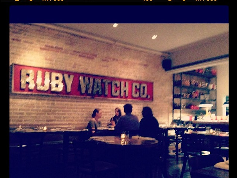 The Restaurant for Dinner in Leslieville: Ruby Watchco
