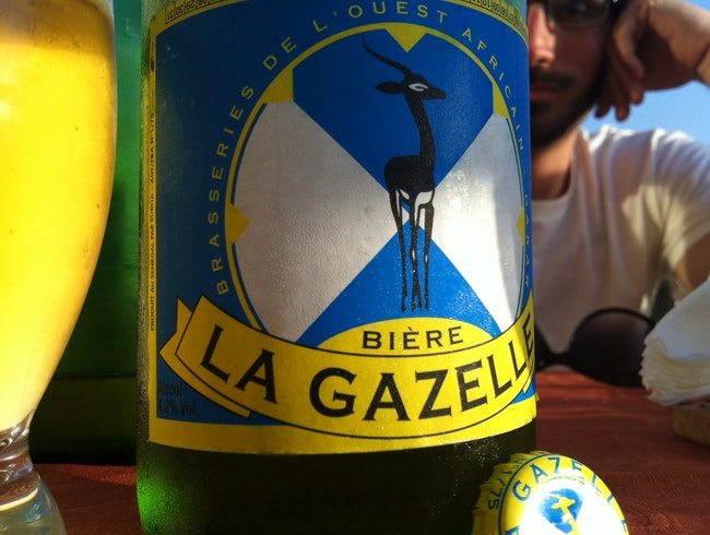 This is Dakar:  La Gazelle Beer