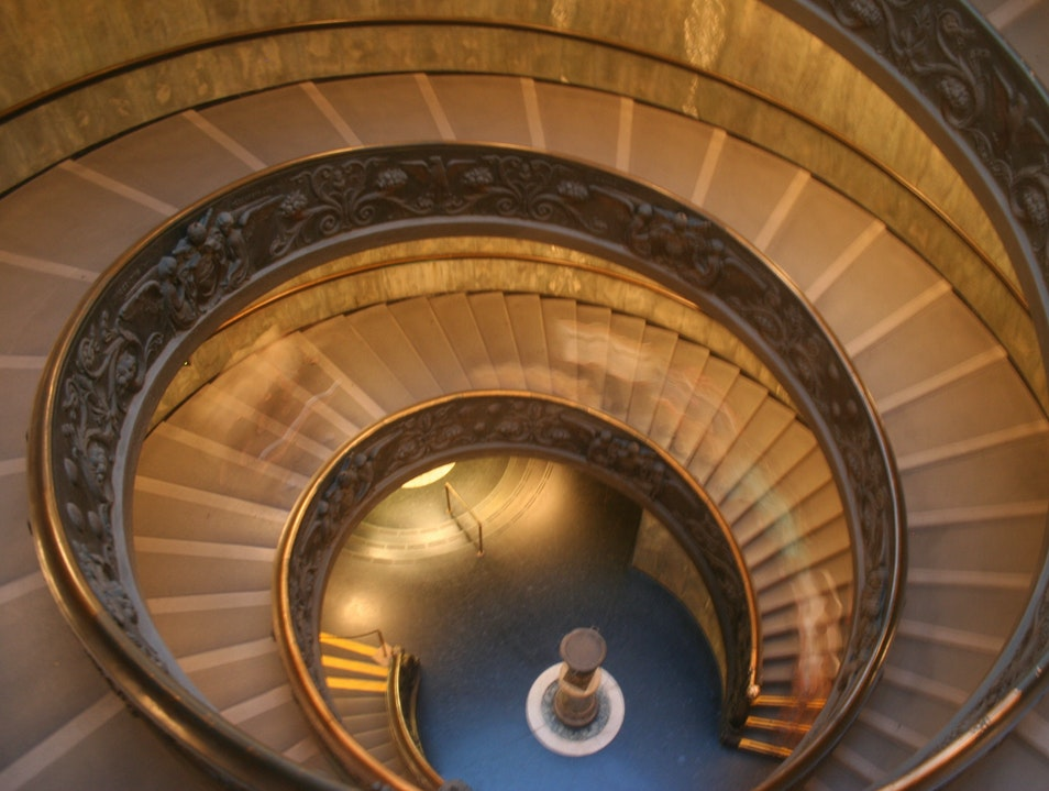 Intertwined staircases, Vatican museum    Vatican City