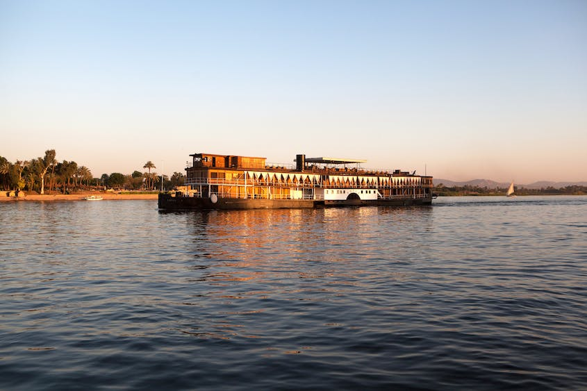 """The 19th-century SS """"Sudan,"""" which once carried Agatha Christie, has 5 suites and 18 cabins."""