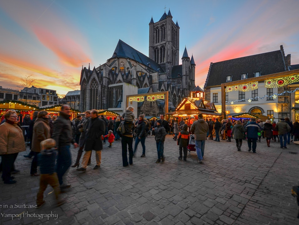 At the Christmas Market  Ghent  Belgium