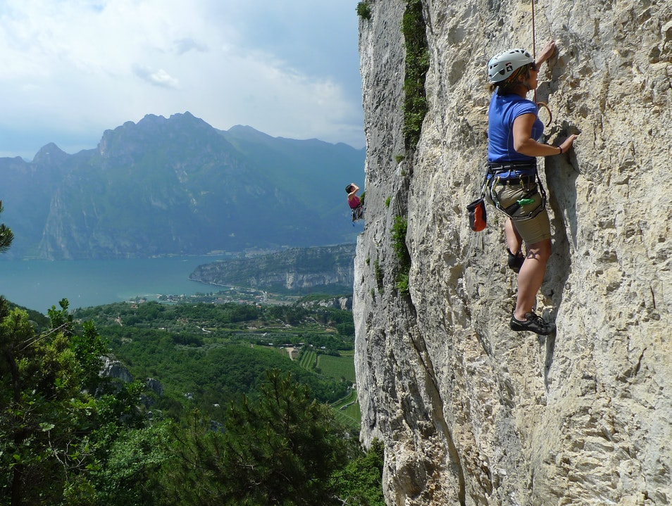 Rock Climbing in the Dolomites Riva Del Garda  Italy