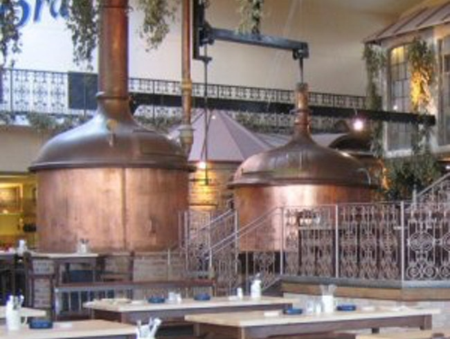 Beer Brewed in Copper Kettles