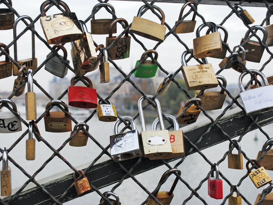 Padlocks of Love Paris  France
