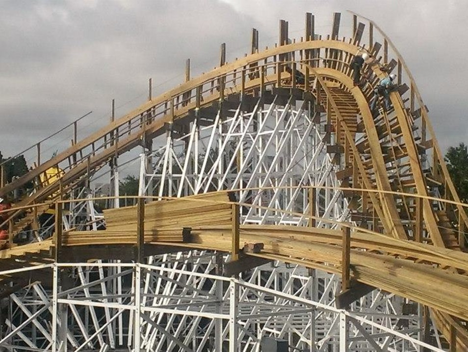 Orlando's First and Only Wooden Roller Coaster