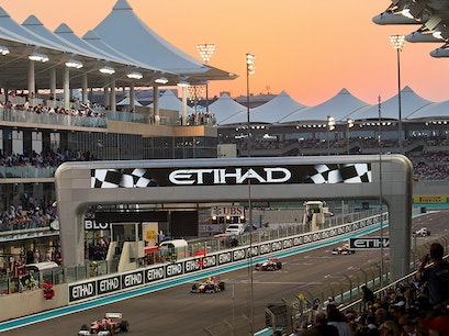 Driving Circuit at Yas F1 Marina Abu Dhabi  United Arab Emirates