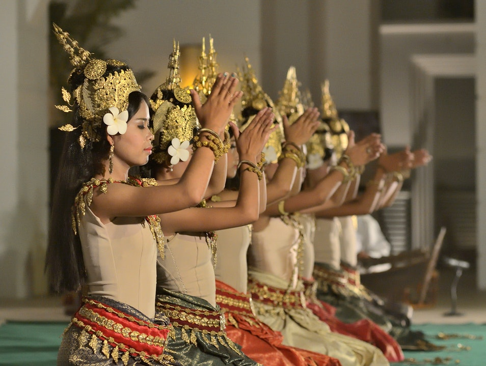 Admire the stylized moves of the Apsara dancers Siem Reap  Cambodia