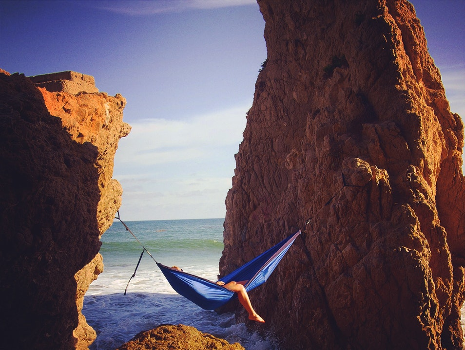 Beach Hammocking Malibu California United States