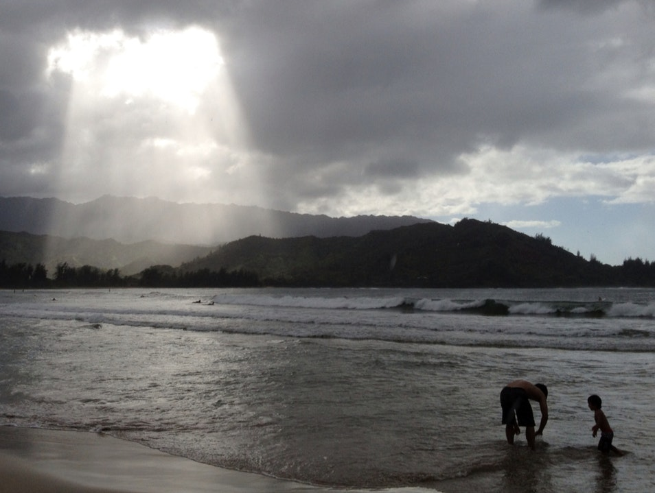 Early Evening In Hanalei Beach