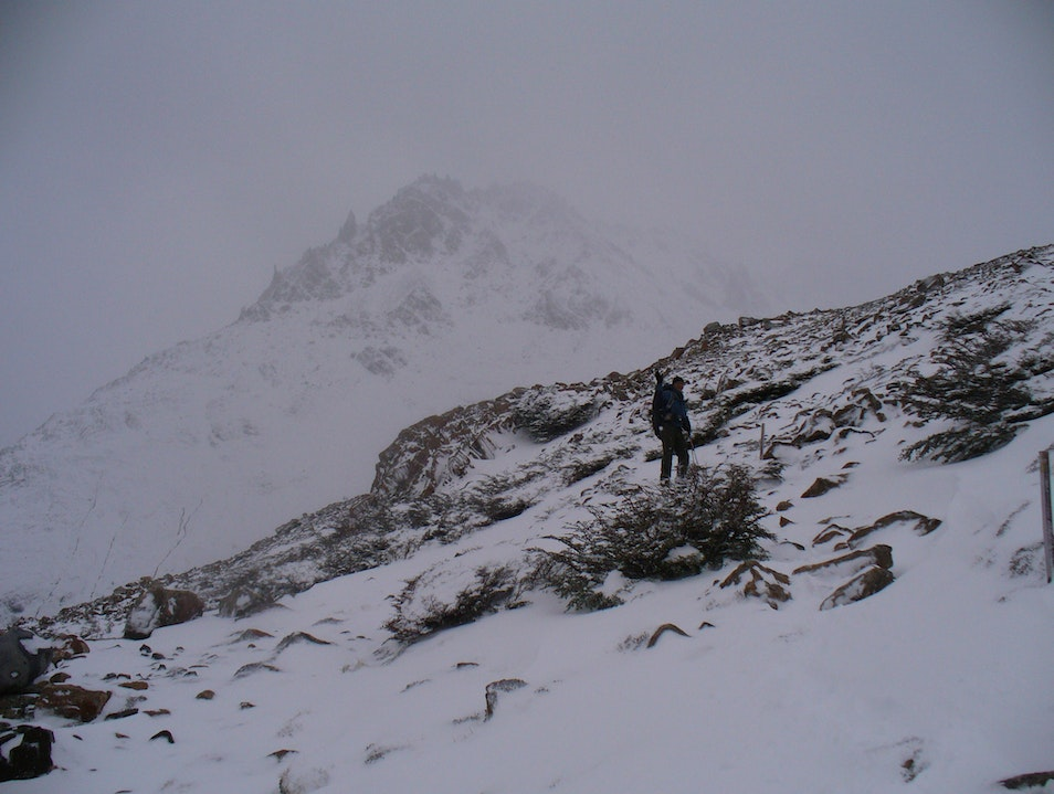 heading up to laguna de los tres