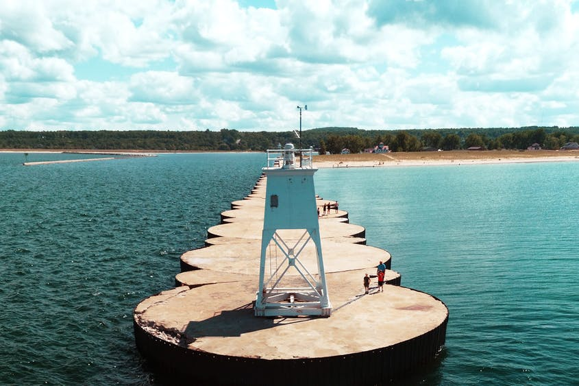 The harbor town of Grand Marais is a good place to stretch your legs.