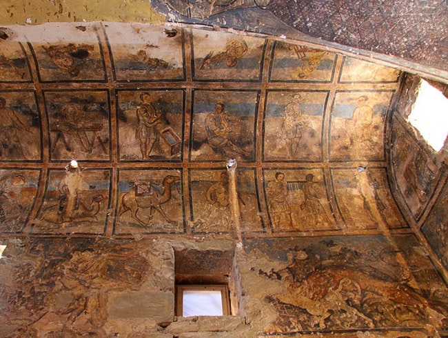 Unearth Fresco Frippery at Qasr Amra