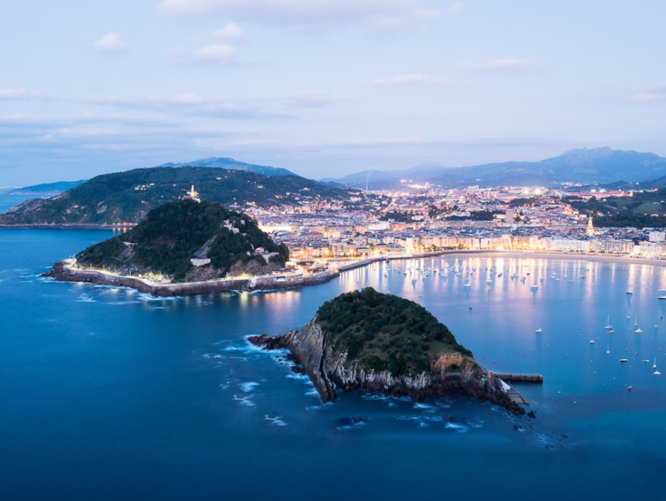 Hiking to a Basque Country Lookout Donostia  Spain