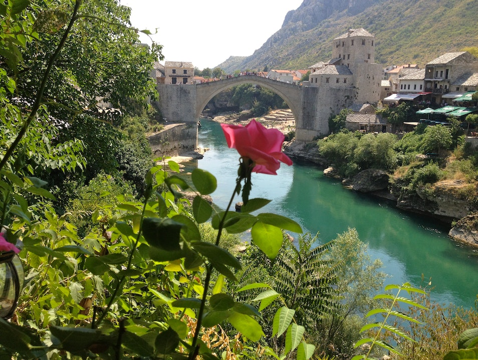 Savoring Ćevapi and the View in Mostar Mostar  Bosnia and Herzegovina