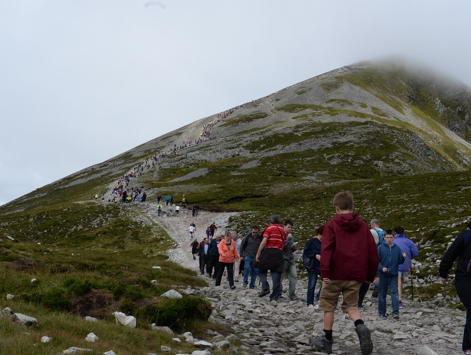 Reek Sunday, Pilgrimage on Irelands Holiest Mountain Murrisk  Ireland