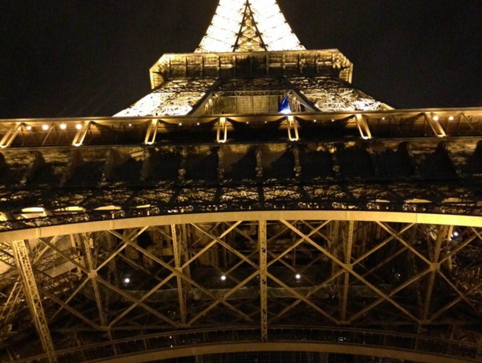 Eiffel Tower at Christmas time Paris  France