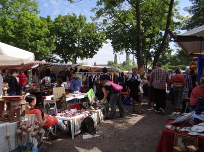 Flea Market at Mauerpark  Berlin  Germany