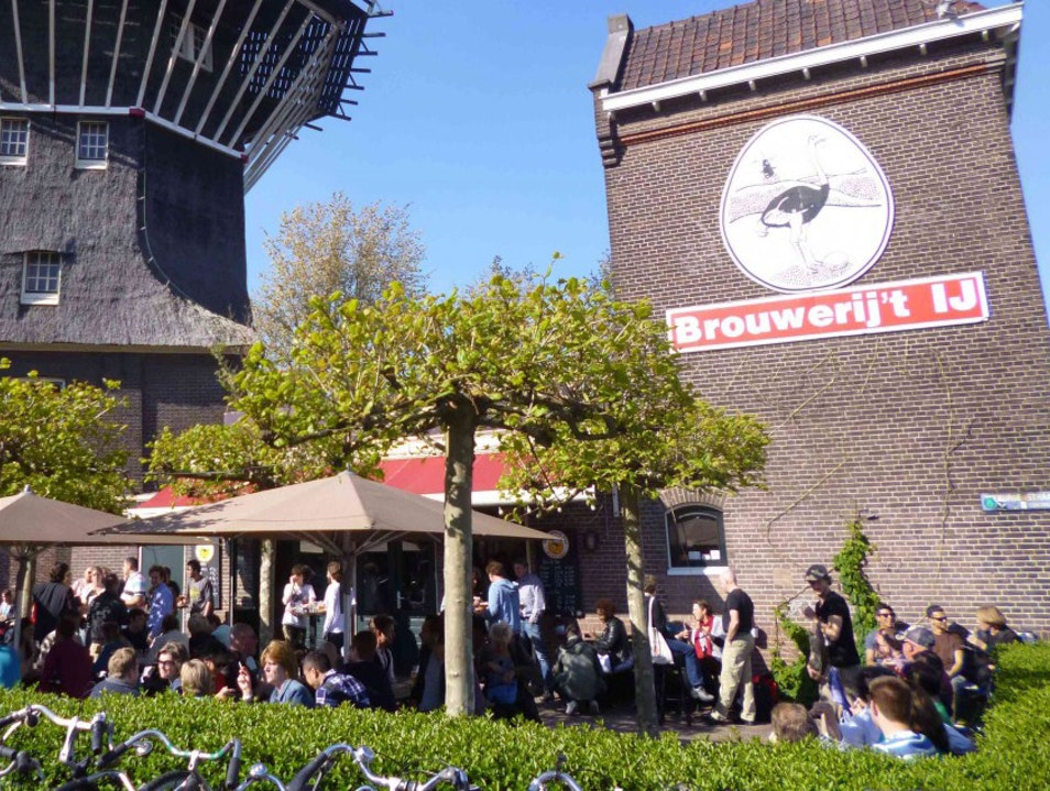 A Brewery at An Urban Windmill Amsterdam  The Netherlands