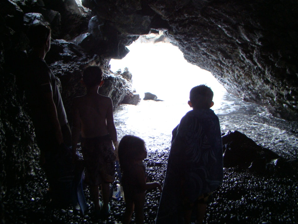 Inside a Lava Tube in Maui Hāna Hawaii United States