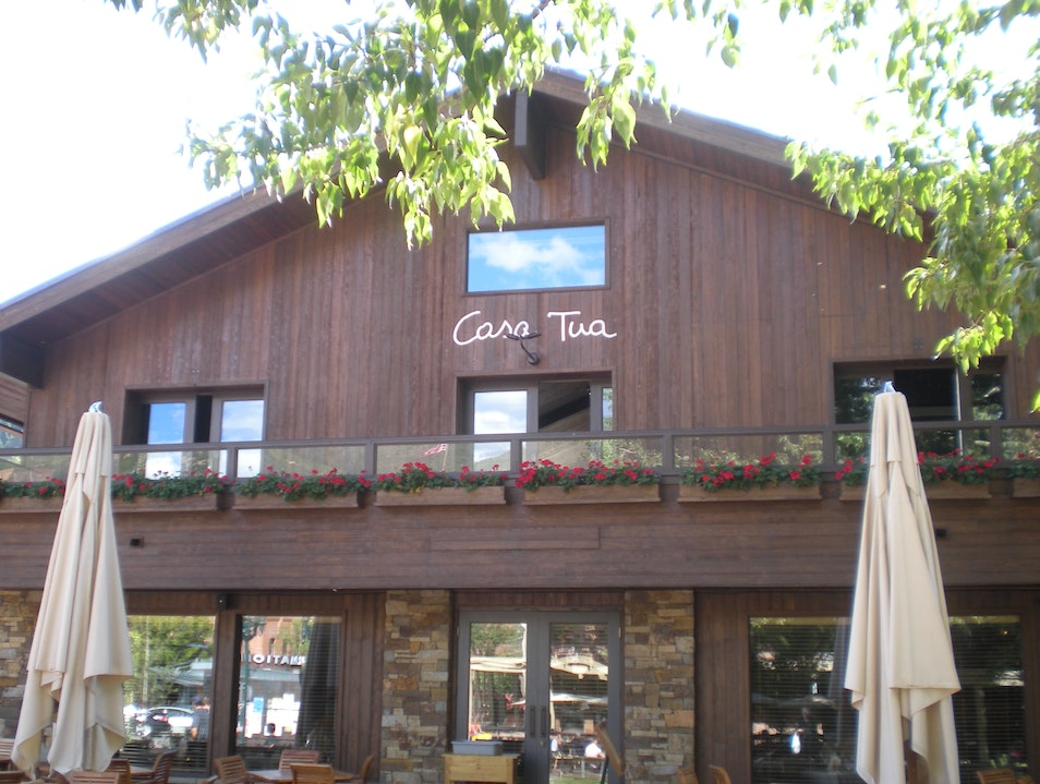 Family Style Italian Eating at Casa Tua Aspen Colorado United States