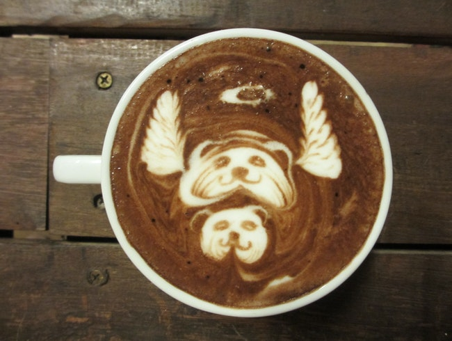 Unlikely art...in a latte.