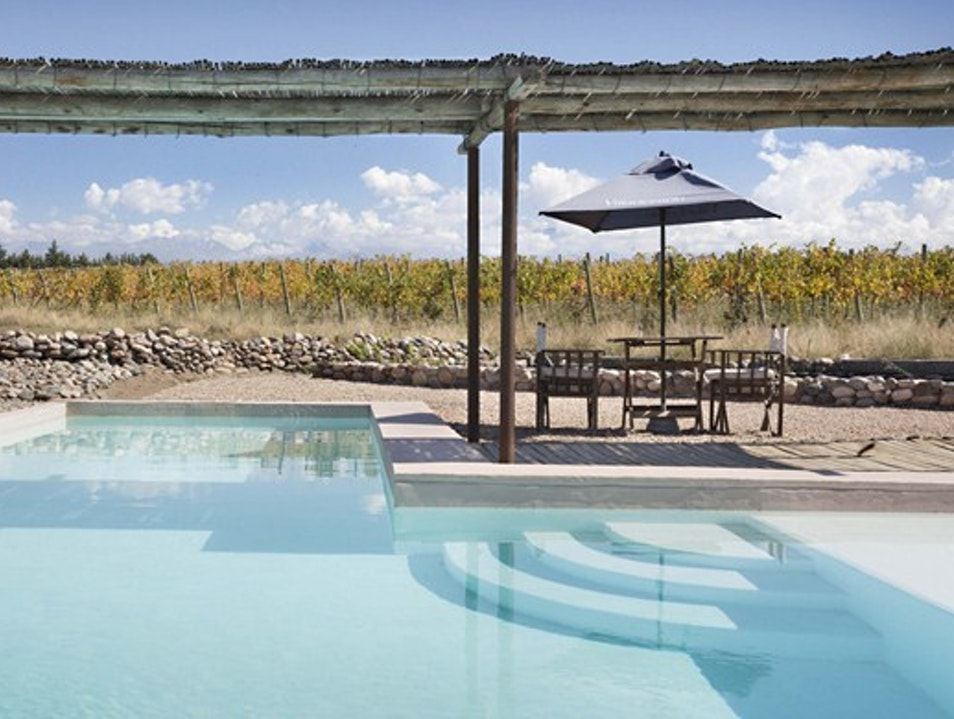 Outdoor Pool Overlooking the Vines Tupungato  Argentina