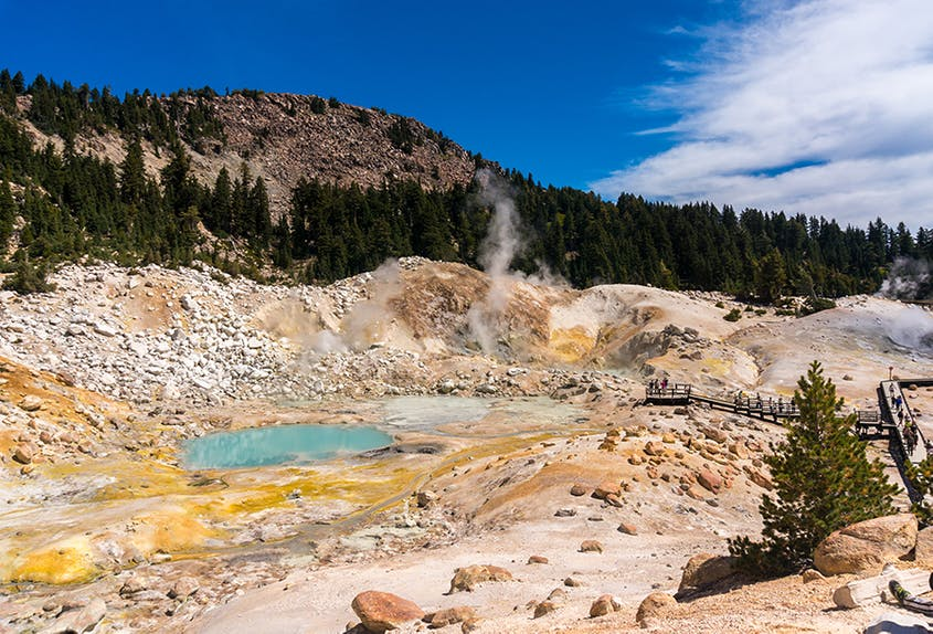 Rainwater and snow in higher elevations feed the park's hydrothermal system.