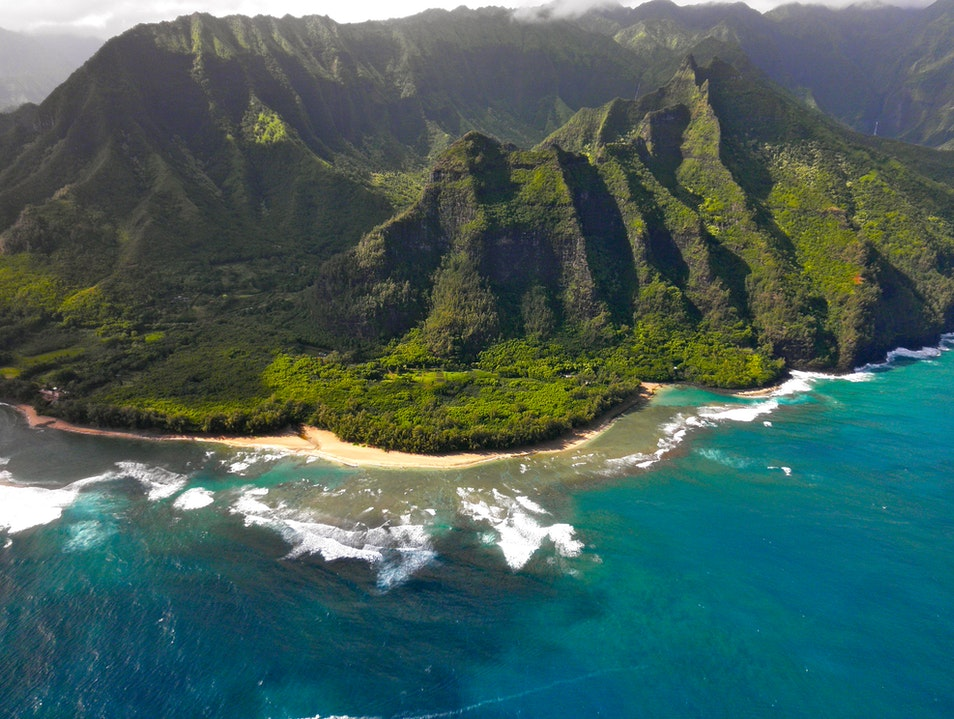 Na Pali Coast from Doors Off Helicopter Ride Hilo Hawaii United States