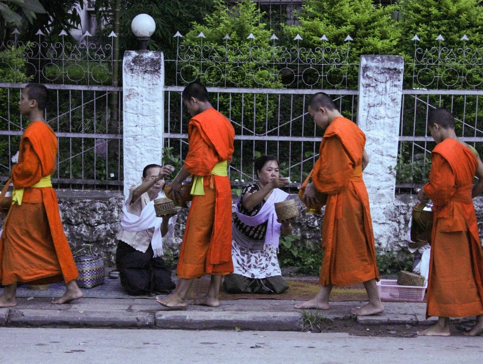 Early Morning Alms Luang Prabang  Laos