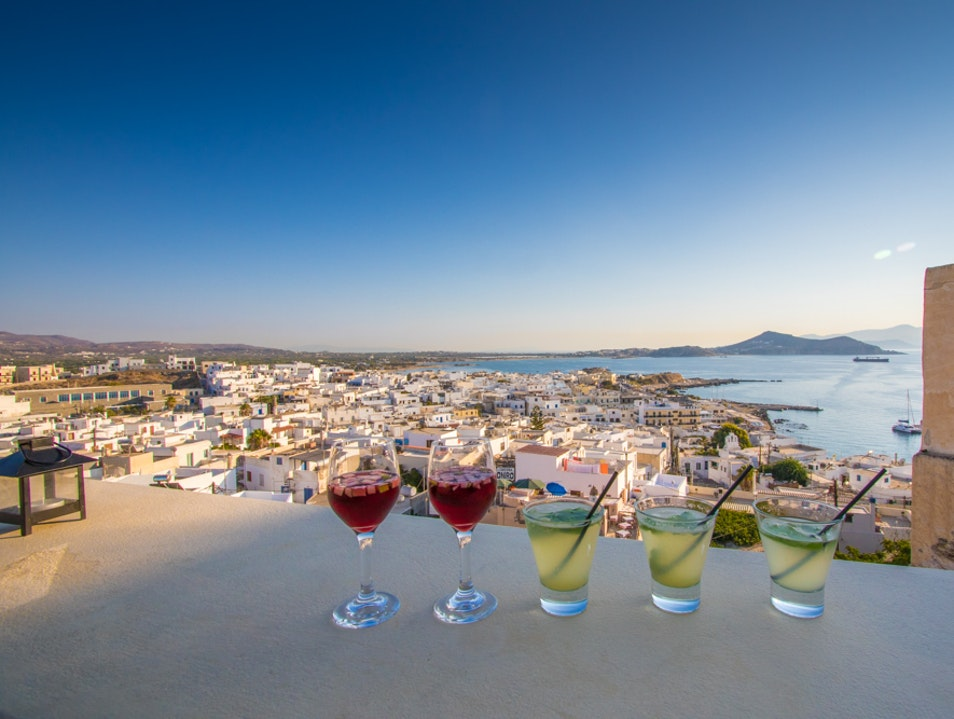 Drinks with a view! Naxos  Greece