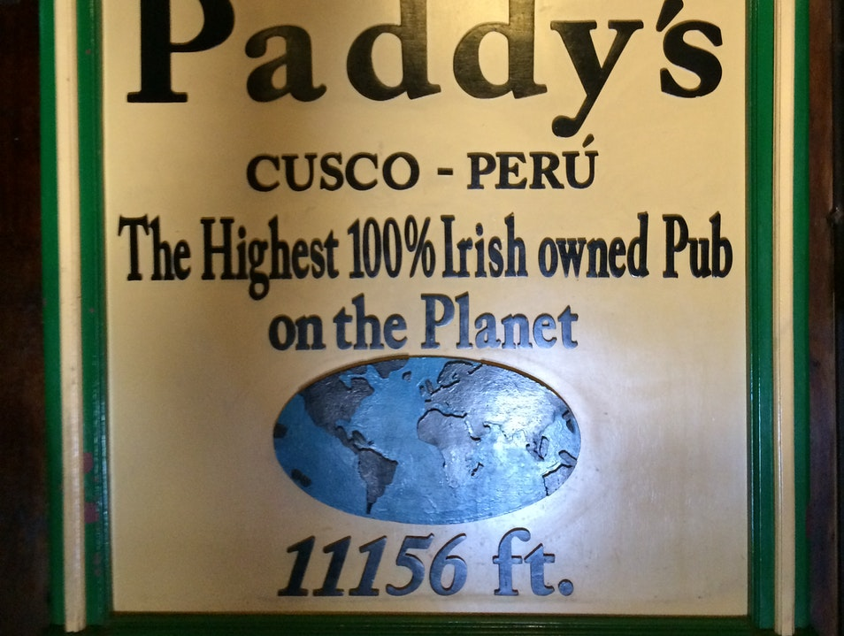 A Taste of Ireland in the Andes Cuzco  Peru
