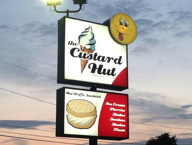 Dive Into Frozen Custard Waffles at the Custard Hut