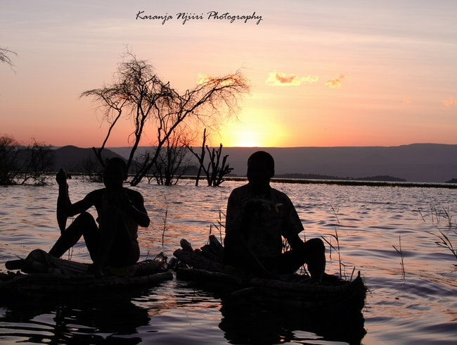 Sunrise at Lake Baringo Kenya.