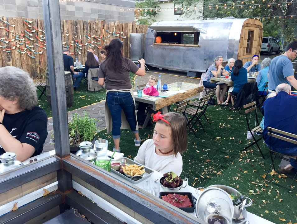 River and Woods Restaurant and Patio in Downtown Boulder Boulder Colorado United States