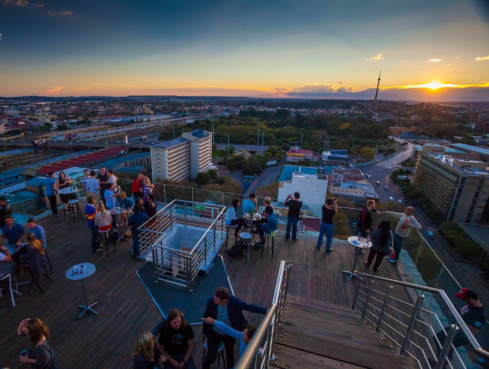 Catch a Cocktail Sundowner Overlooking the City Johannesburg  South Africa
