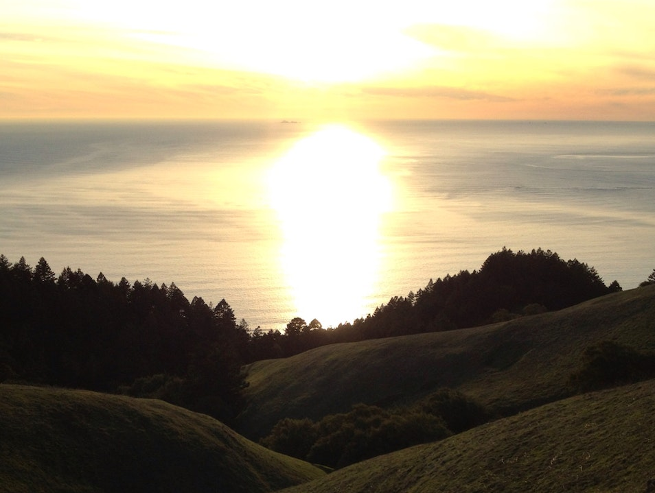 A View From Mount Tamalpais Stinson Beach California United States