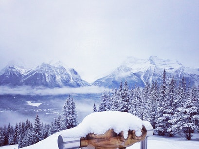 Lake Louise Ski Resort Banff National Park  Canada