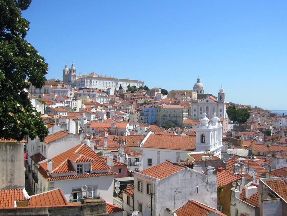 Fantastic views from mod hotel Lisbon  Portugal